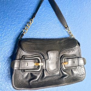 Fendi Bags - AUTHENTIC Fendi B Bis Black Leather Shoulder Bag